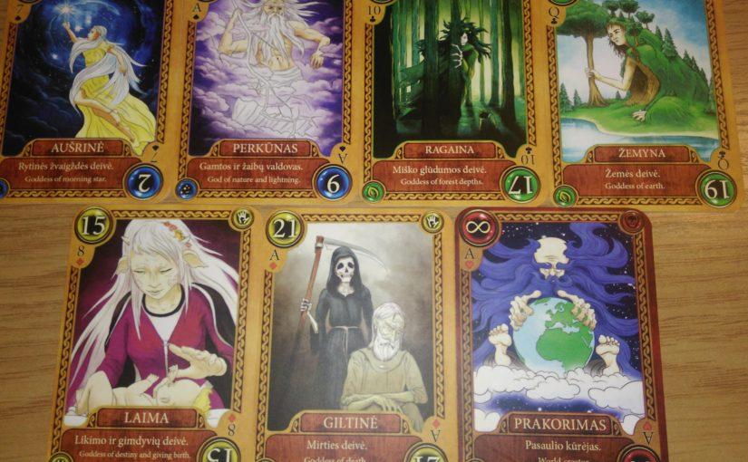 """リトアニア神話をテーマにしたカードゲーム""""Baltų Dievai"""""""